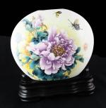 圓弧彩繪花瓶
