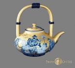 金身籃彩茶壺